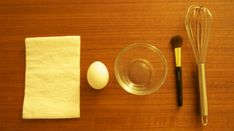 DIY Egg Whites and Tissue Face Mask - Great for blackheads