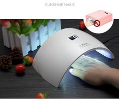 The Led/uv Nail Drying Machine boasts a small, sleek design that's ideal for home use.