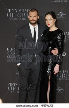 Hamburg, Germany. 7th Feb, 2017. Jamie Dornan and Dakota Johnson attending the 'Fifty Shades Darker' european premiere - Stock Photo
