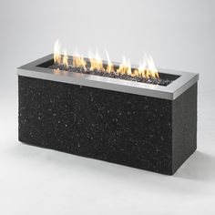 Outdoor Greatroom Company Key Largo W Black Stainless Steel Fire Table at Lowe's. A showcase of fire, the Key Largo gas fire pit table features a beautiful, glowing fire that dances atop a bed of fire glass. The focal point of the Outdoor Fire Pit Table, Gas Fire Pit Table, Fire Pit Backyard, Outdoor Living, Custom Fire Pit, Natural Gas Fire Pit, Fire Glass, Gas Fires, Gas Fireplace