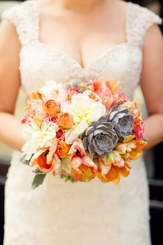 fall wedding bouquet // photo by Olivia Leigh Photographie, flowers by A Stem Above // view more: http://ruffledblog.com/chicago-salvage-one-wedding