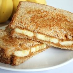 Grilled Peanut Butter and Banana Sandwich Allrecipes.com