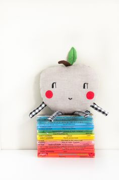 'Happy Apple' mini cushion   by Red Hand Gang