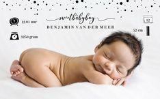 Geboortekaartje met foto - Daan gemaakt bij zelfkaartjes.nl