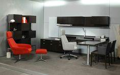 Oficina moderna con toque retro