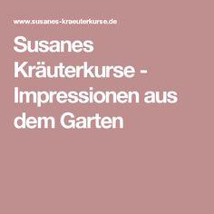 Susanes Kräuterkurse - Impressionen aus dem Garten