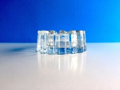 Heavy Glass Ashtray Vintage Large Clear Glass by SandHollowVintage