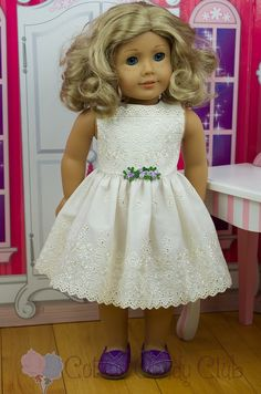 Classic Ivory Broderie Anglaise Dress for by CottonCandyClub