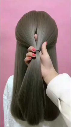 Hairdo For Long Hair, Easy Hairstyles For Long Hair, Cute Hairstyles, Wedding Hairstyles, Easy Elegant Hairstyles, Easy Hairstyle Video, Short Hair Ponytail, Hair Updo, Hairdos