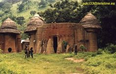 Africa | A Tamberma household, Tamberma Valley, Togo | © A. De Cara.