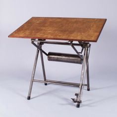 French Industrial Architect's Drafting Table