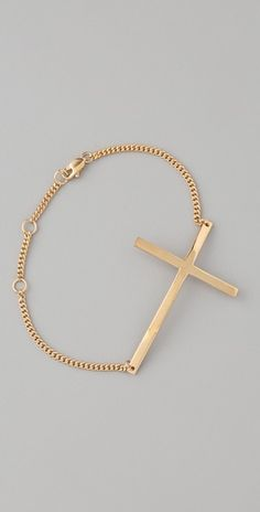 Gold Cross Bracelet: I need one!