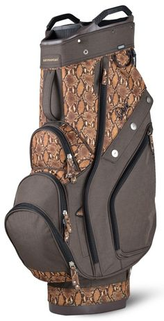 Brown/Boa Sun Mountain Women's Diva Golf Cart Bag available at #lorisgolfshoppe