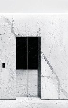 Hedi Slimane | Saint Laurent London, 2013 | elevator doors