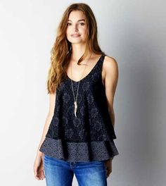 AEO Tiered Lace Tank - Buy One Get One 50% Off