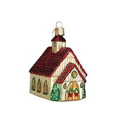 Old World Christmas Chapel Glass Blown Ornament * Read more reviews of the product by visiting the link on the image.