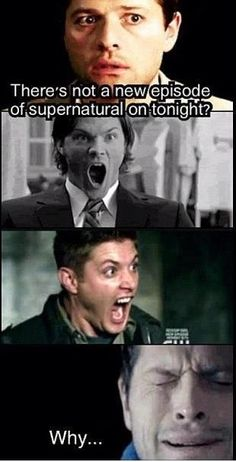 Well...when there isn't any Supernatural on this is pretty accurate. This is why I have them on DVD, baby! ;]