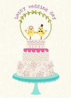 """""""Happy Wedding Day"""" Greeting Card"""