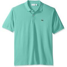 f7ebbf5e049dfe Lacoste Men s Short Sleeve Pique L.12.12 Original Fit Polo Shirt