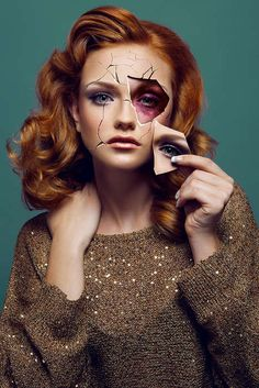 Violent Beauty Photography - 'Bruised Behind the Mask' Comments on Domestic Abuse (TrendHunter.com)