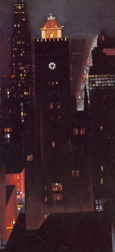 "Georgia O'Keefe   "" New York Night """