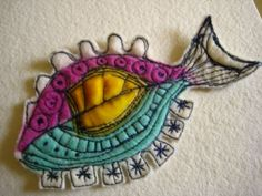 Fish made by Jackie Cardy