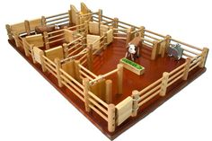 Cattle Yard No 6 - Handmade Wooden Toy - CY6 by Country Toys - Handmade Wooden Trucks and Toys
