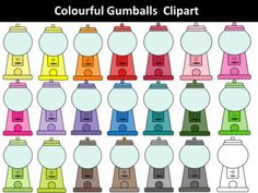 Gumball Machines Clipart