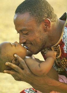 Love... the true gift of humanity. Father caring for child.