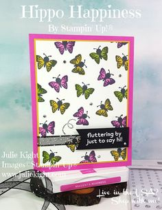 Butterfly Outline, Butterfly Cards, Animal Cards, My Stamp, Say Hi, Homemade Cards, Stampin Up Cards, Cardmaking, Projects To Try