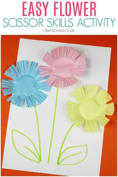 Perfect for toddlers, preschoolers or kids in reception and super quick to set up! Spring Crafts For Kids, Craft Projects For Kids, Fun Crafts For Kids, Cute Crafts, Art For Kids, Summer Crafts, Art Projects, Preschool Art Activities, Preschool Arts And Crafts