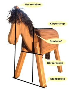 "Modelo Holzpferd ""Filou"" 80 - New Site Play Horse, Stick Horses, Wooden Horse, Hobby Horse, Diy Holz, Pool Towels, Cool Kids, Rocking Horses, Saddle Rack"