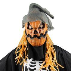 Halloween Scary Mask Cosplay Pumpkin Scarecrow Terror Mask Head Mask Mascara Cosplay #2729