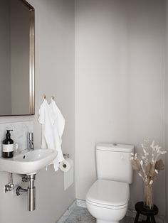 Our Home - Historic homes - Lilly is Love Guest Toilet, Small Toilet, Bathroom Toilets, Laundry In Bathroom, Bathrooms, Toilet Sink, Parisian Apartment, Interior Decorating, Interior Design