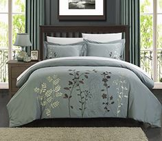 Chic Home 3-Piece Kaylee Floral Embroidered Duvet Set, Queen Green Chic Home http://www.amazon.com/dp/B00V07QCFE/ref=cm_sw_r_pi_dp_1XJ7vb1WTJ0QT