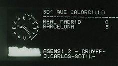#OnThisDay 41 tahun yang lalu, Barca mengalahkan Real Madrid 5-0 di Santiago Bernabeu #clasico