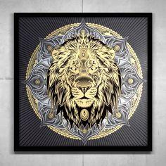 Image du Lion Mandala Artist Proof