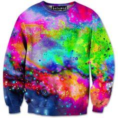 Neon Galaxy Sweatshirt // Beloved Shirts