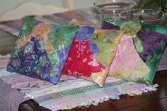 Angels  Pillow Set of 3 Quilted Batik Applique by SherisShoppe, $25.00