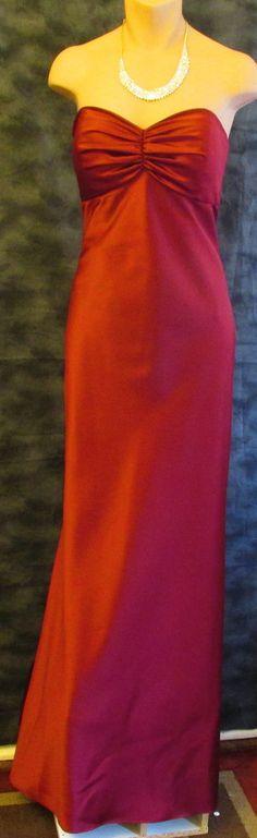 Elegant After Six burgundy formal dress Sz 8, excellent condition!