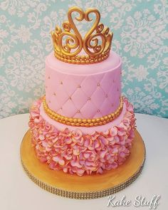 50 whimsical ruffle quinceanera cakes to choose from Quinceanera Planning, Quinceanera Cakes, Sweet 16 Cakes, Cute Cakes, Sweet 16 Parties, Pink Parties, 50th Wedding Anniversary Cakes, Wedding Cakes, Gold And Burgundy Wedding