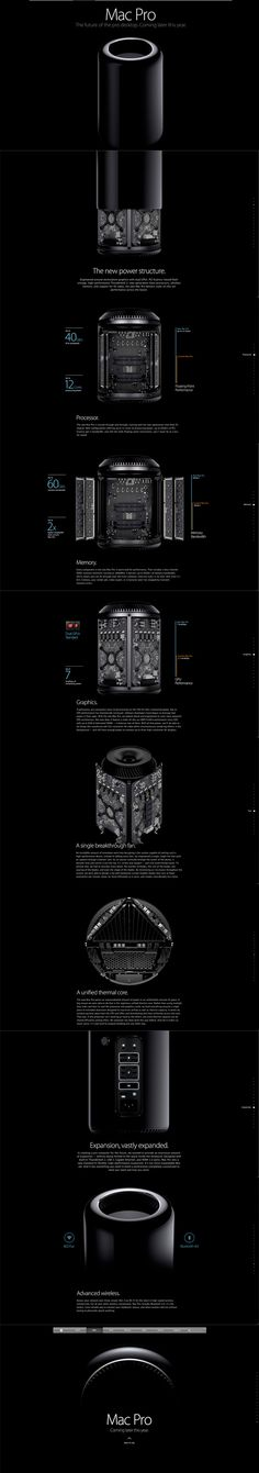 Apple Mac Pro #webdesign #inspiration #UI #Clean #Minimal #Single page #Design #Scroll #Black #Silver #White