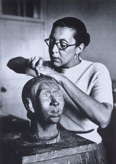 "cavetocanvas: "" Elizabeth Catlett working in Mexico City, c. 1947 """
