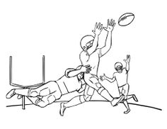 Arms Of NFL Football Coloring Page Kids Coloring Pages