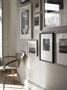 Monday inspiration: Neutrals. Great wall of art; simplicity