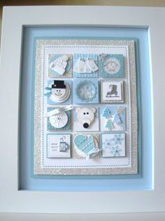 Winter Sampler using Stampin' Up! Products...stamps, paper, Embelishments!!!