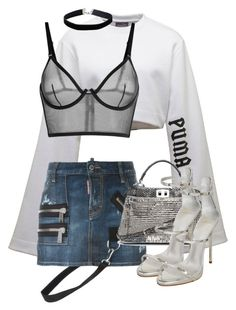 Untitled #3715 by xirix on Polyvore featuring polyvore, fashion, style, Puma, Dsquared2, Giuseppe Zanotti, Fendi, Miss Selfridge and clothing