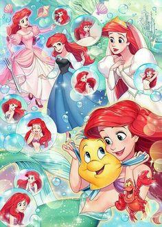 The little mermaid ariel princesa ariel disney, disney princess ariel, all disney princesses, Disney Magic, Disney Amor, Film Disney, Cute Disney, Disney Dream, Disney Princesses And Princes, Disney Princess Art, Disney Fan Art, Princess Photo