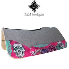 Sugar Skulls this! Barrel Saddle, Barrel Racing Horses, Barrel Horse, Saddle Rack, Cowgirl And Horse, Western Horse Tack, My Horse, Western Saddle Pads, Western Saddles