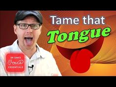 How to Relax Your Tongue for Singing | Tongue Root Tension | #DrDan - YouTube